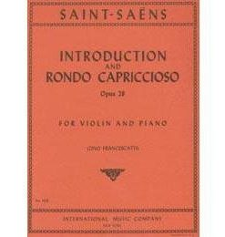 Saint-Saens, Camille - Introduction and Rondo Capriccioso, Op 28 - Violin and Piano